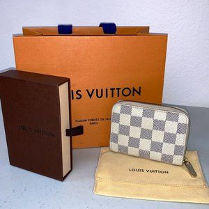 AUTHENTIC Louis Vuitton Zippy Coin Purse Azur
